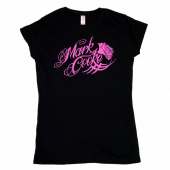 Mark Cooke Black Tee- Pink Logo